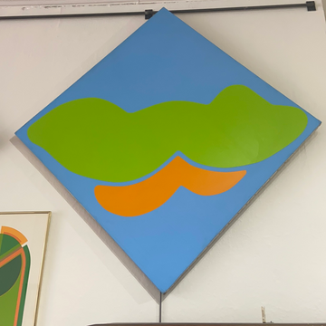 Robert Clark Nelson Painting - Blue/Green/Orange