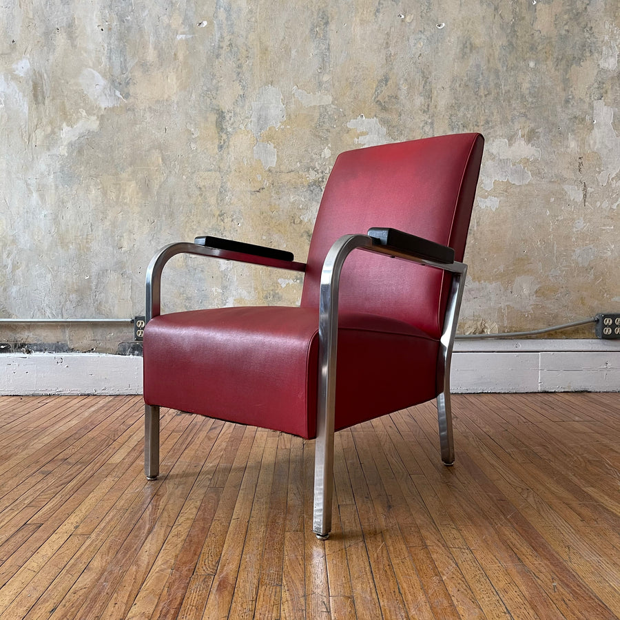 Royal Chrome Art Deco Armchair
