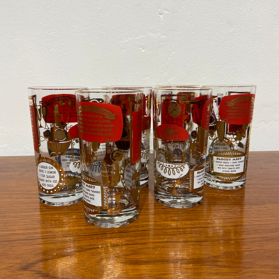 Set of 6 Jeanette Glass