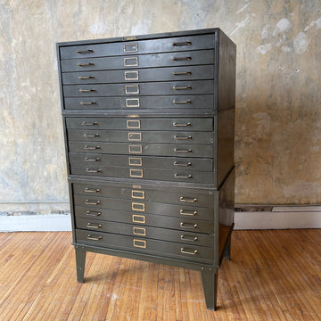 Green Metal Standing Flat File