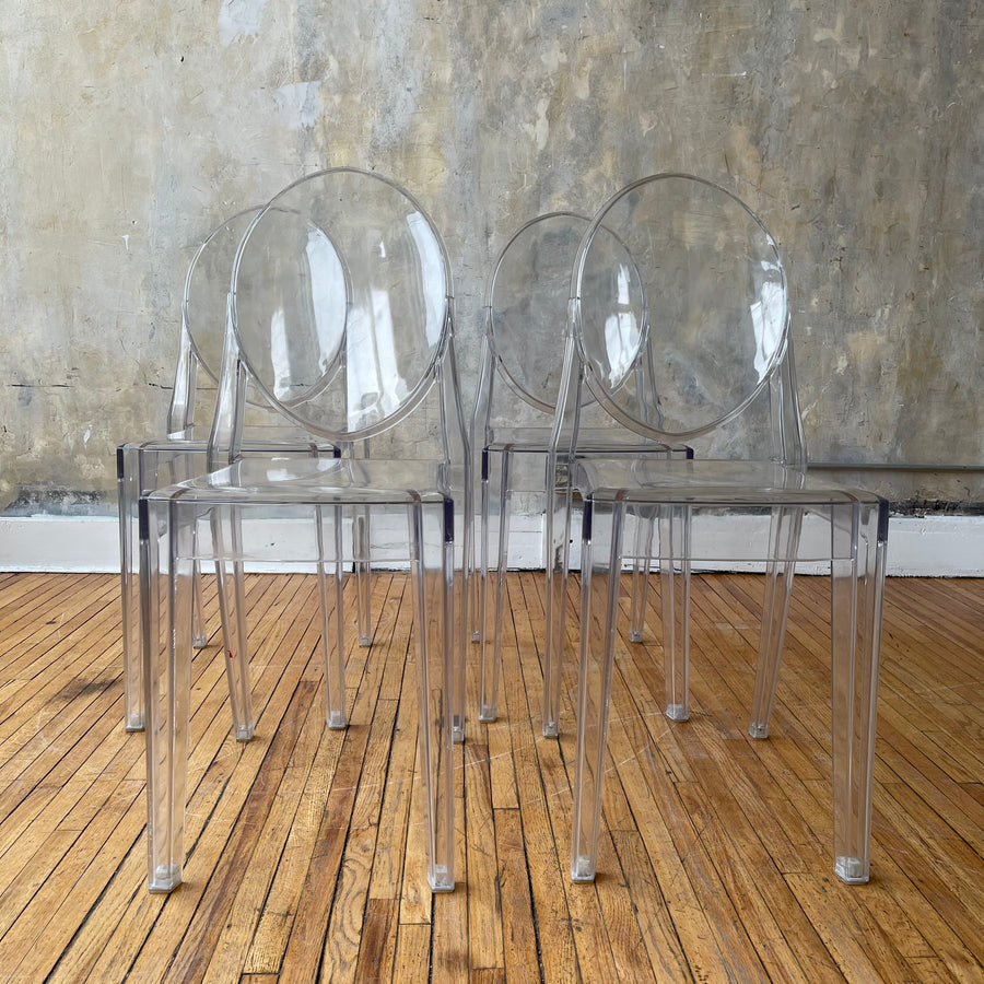 Set of 4 Lucite Dining Chairs