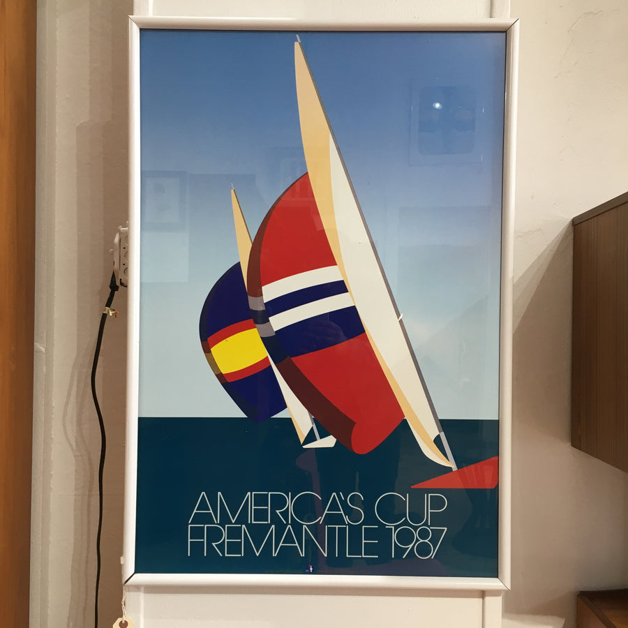 1987 America's Cup Fremantle Official Framed Poster