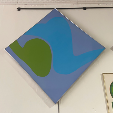 Robert Clark Nelson Painting - Purple/Blue/Green