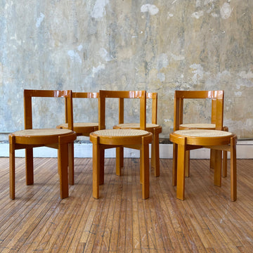 Set of 6 Italian Bentwood Dining Chairs