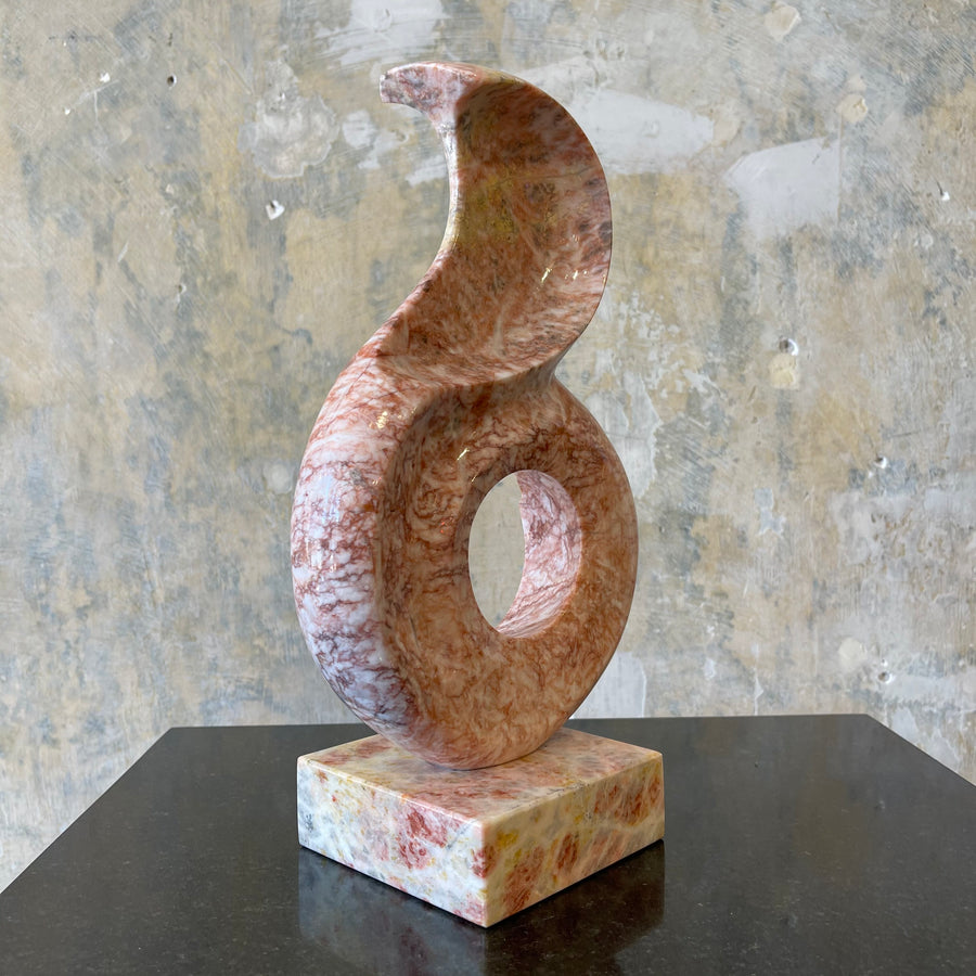 Vintage Carved Marble Swirl Sculpture