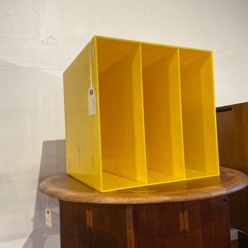 Yellow Record Storage Bin