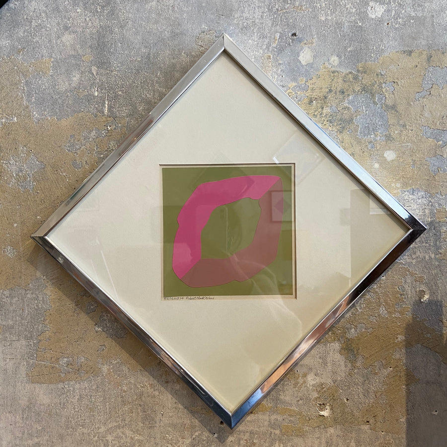 Robert Clark Nelson Pop Art Collage Study - Green/Pink