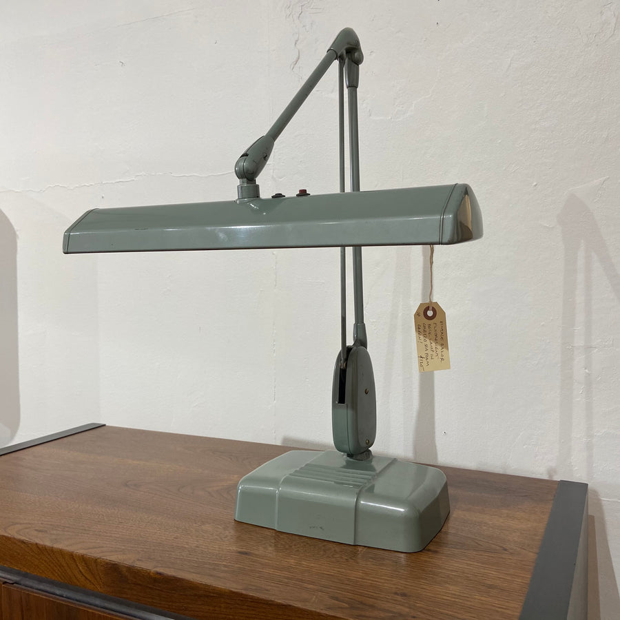 Dazor Fluorescent Seafoam Green Desk Lamp