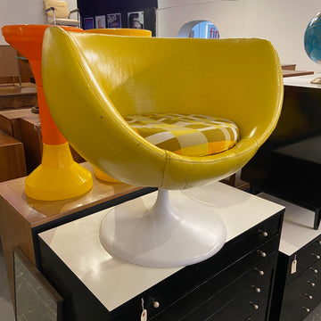 Yellow Mod Vinyl Chair