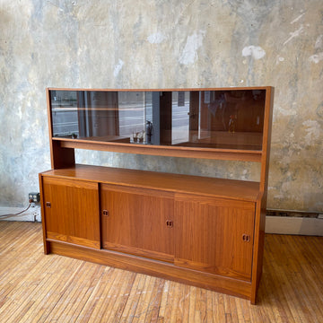 Teak Sideboard with Display Case