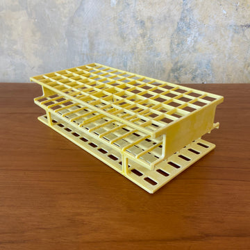 Rectangular Yellow Test Tube Holder