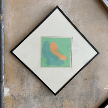 Robert Clark Nelson Pop Art Collage Study - SeafoamGreen/Orange
