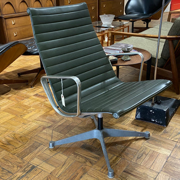 Eames Herman Miller Aluminum Group Arm Chair in Green