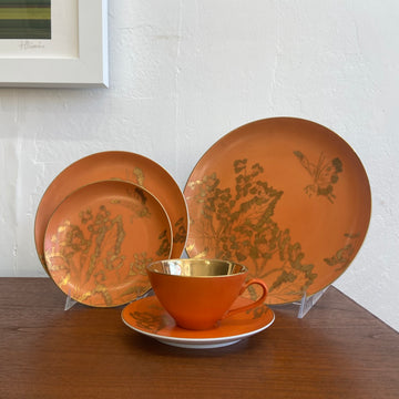Dorothy Thorpe Persimmon 30-Piece China Set