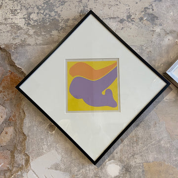 Robert Clark Nelson Pop Art Collage Study - Yellow/Purple/Orange
