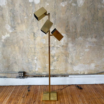 Koch & Lowy Brass Mod Floor Lamp