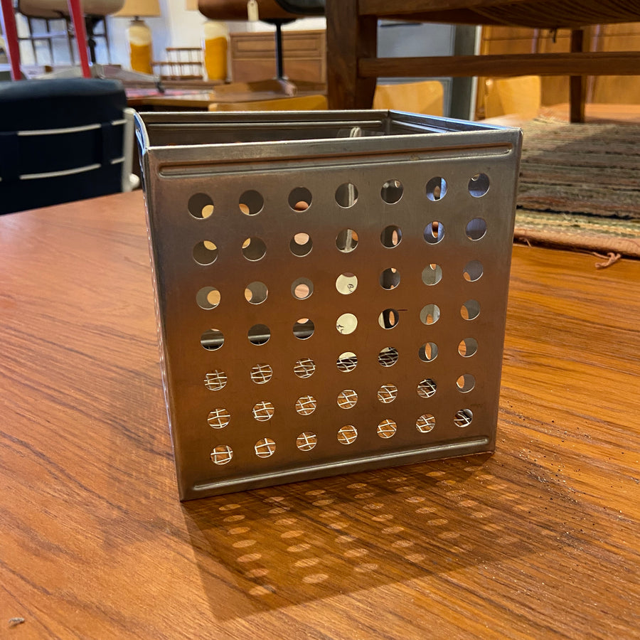 Vintage Stainless Perforated Basket