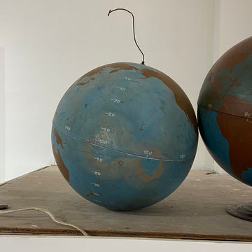 Hollow Spun Metal Aviation Globe without Stand