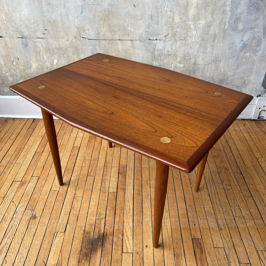 Dux Side Table with Brass Detailing