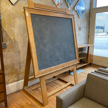 Slate Stone Chalkboard with Oak Adjustable Stand