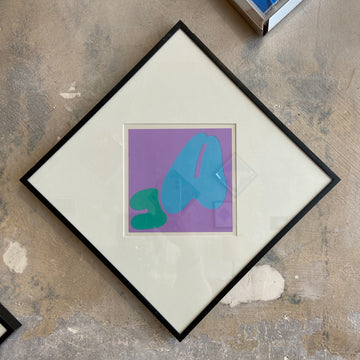 Robert Clark Nelson Pop Art Collage Study - Purple/Blue/Green
