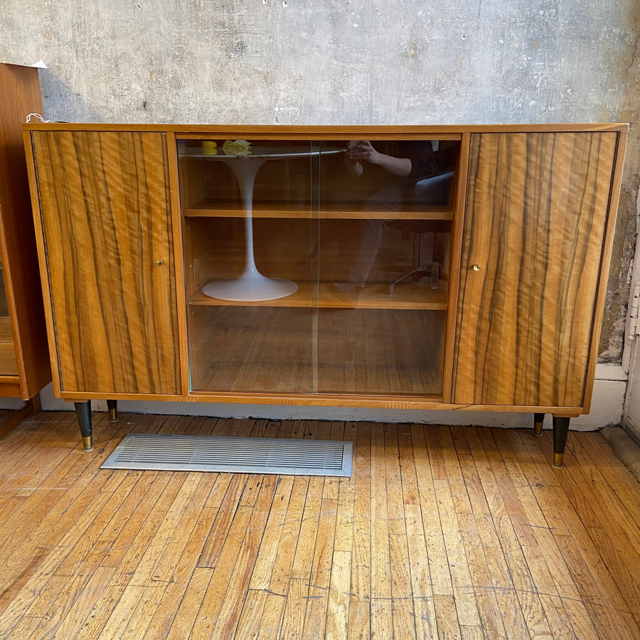 Wood & Glass Shelf / Cabinet