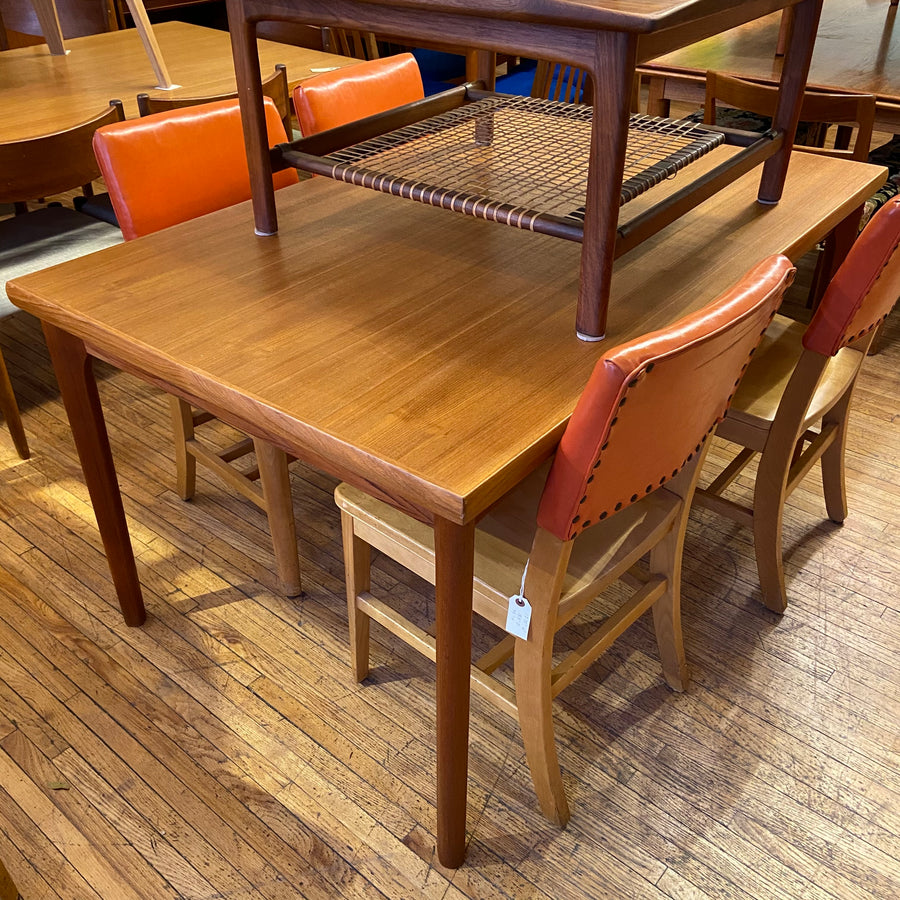 Teak Draw Leaf Dining Table