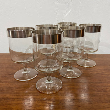 Set of 6 Dorothy Thorpe Allegro Wine Glasses