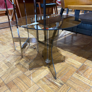 Smoked Glass Round Side Table