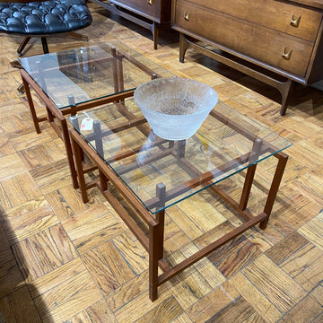 Teak & Glass Side Table