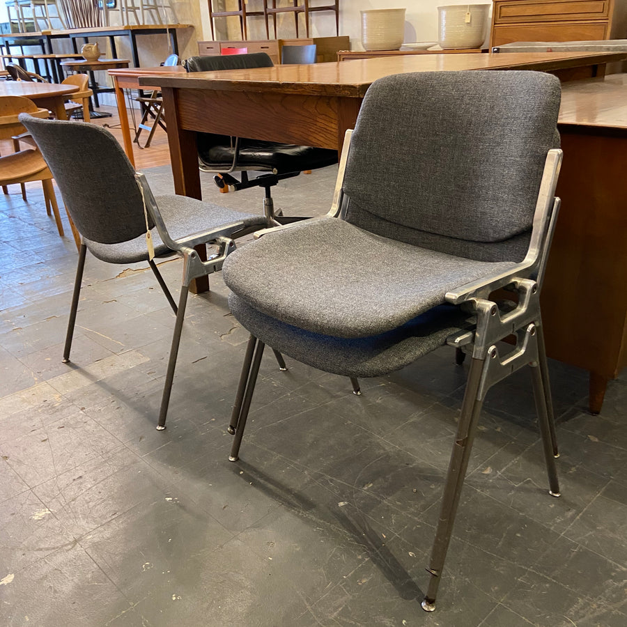 Grey Upholstered Stacking Chair