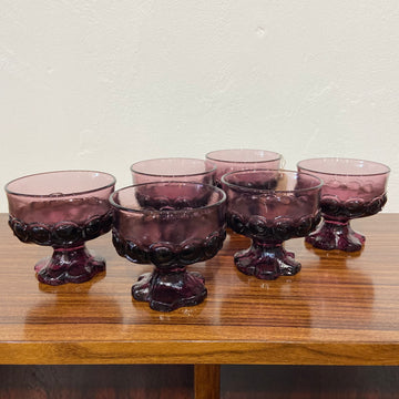 Set of 6 Franciscan Madiera Amethyst Champagne Glasses
