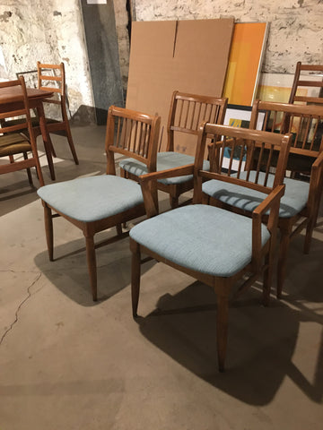 Set of 4 Mid Century American Walnut Dining Chairs