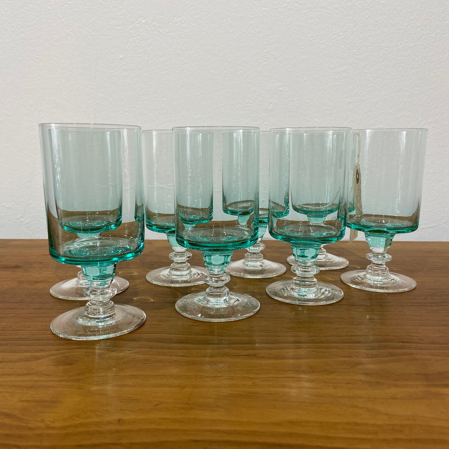 Set of 8 Sasaki Regency Aqua Cocktail Glasses