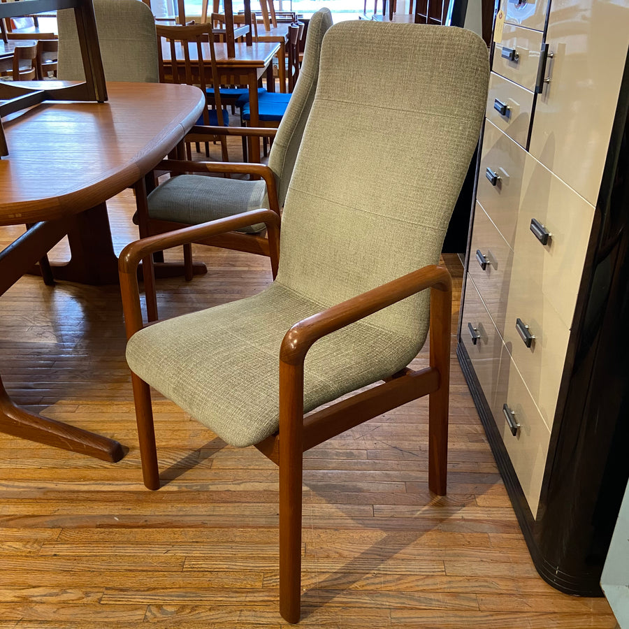 Set of 5 Upholstered Dining Chairs