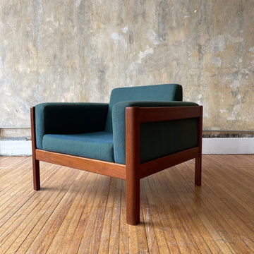 Teal Teak Club Chair