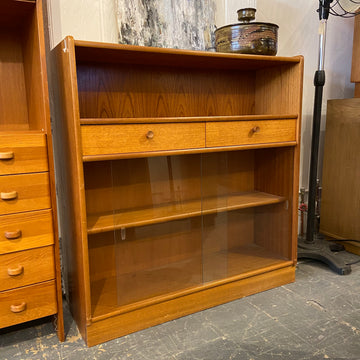 Teak Cabinet with Glass Base
