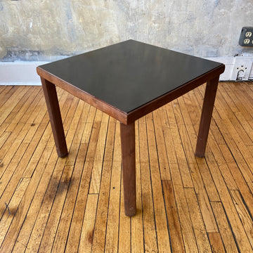 Side Table with Black Laminate Top