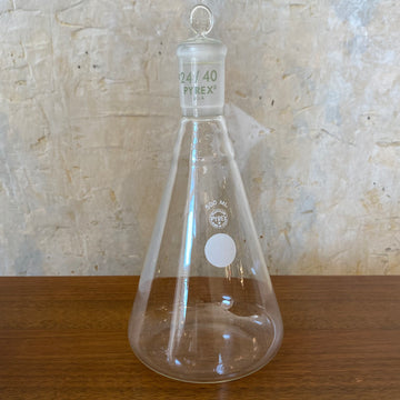 Vintage Pyrex 500ml Ehrlenmeyer Flask w/Glass Stopper