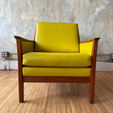 Lemon Yellow Vinyl Lounge Chair