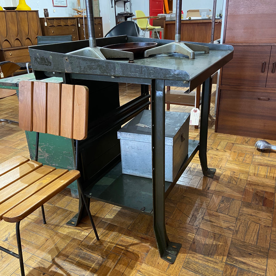 Industrial Steel Foreman's Desk