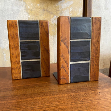 Tile & Oak Bookends