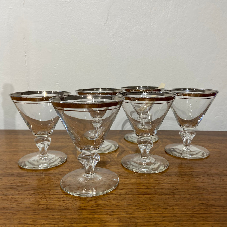Set of 6 Libbey Saturn Cocktail Glasses