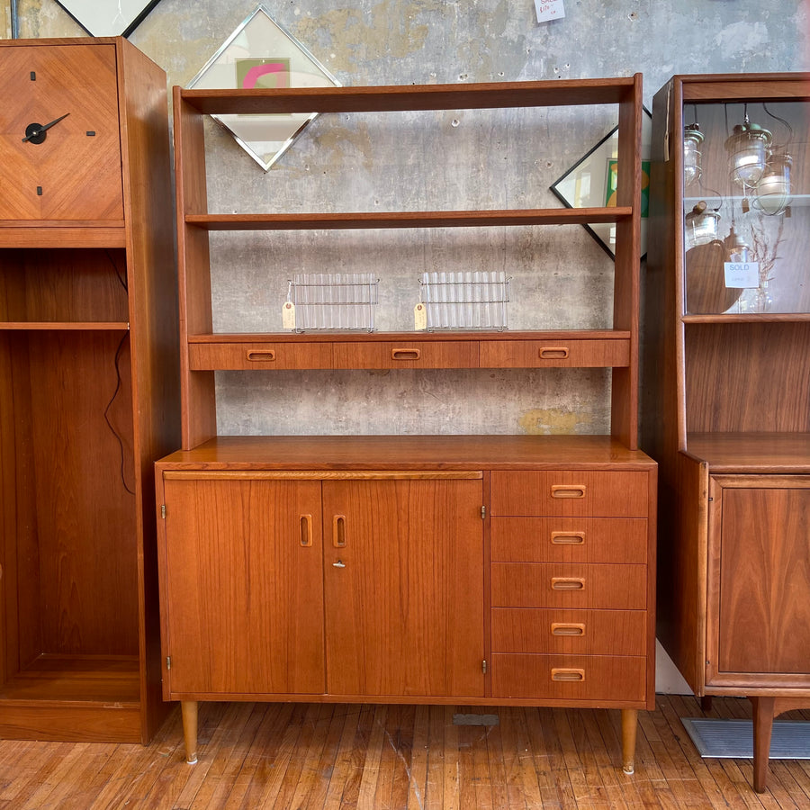 Teak Secretary Cabinet Shelf