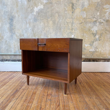 Mid Century Walnut Nightstand