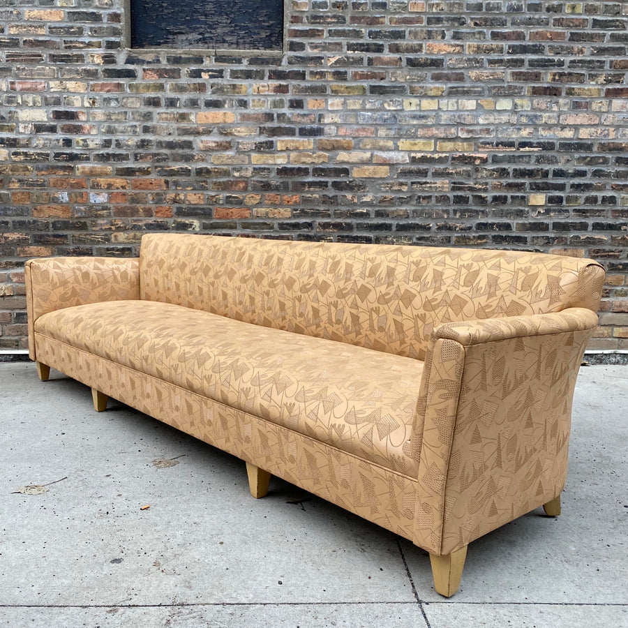 1940's Deco Upholstered Sofa