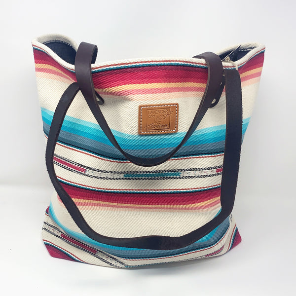 Bright Desert Stripe Market Bag - Good Spark