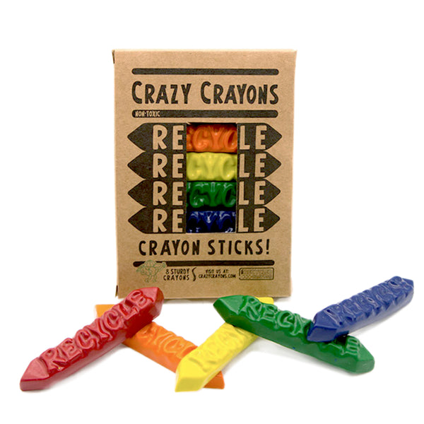 Recycled Crayon Sticks - Good Spark