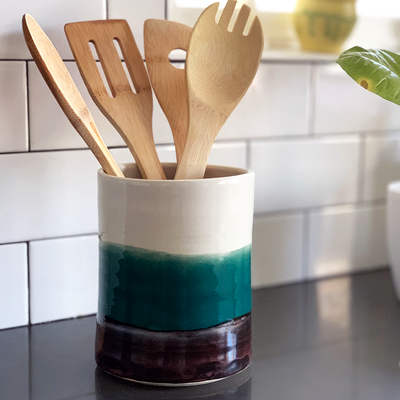 Ceramic Utensil Holder - Good Spark