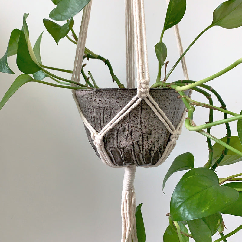 Hanging Planter with Macrame Hanger - Good Spark